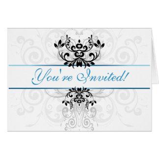 Elegância clara personalizada cartão