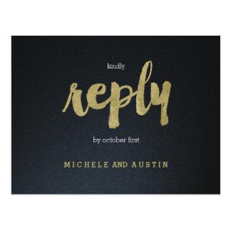 Elegância clássica - cartão Wedding de RSVP Cartão Postal