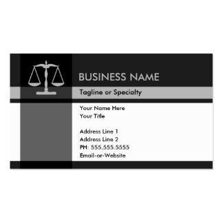 elegância de justiça cartões de visita