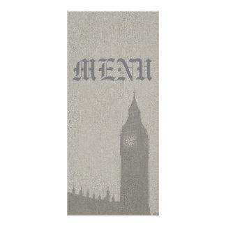 Elegância de Londres do inglês do menu 10.16 X 22.86cm Panfleto