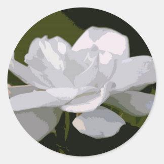 Elegância do Gardenia Adesivos Em Formato Redondos