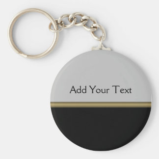 Elegância do monograma no ouro cinzento preto chaveiro