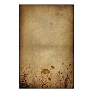 Elegância do vintage floral papelaria