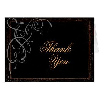 Elegância escura - cartões de agradecimentos