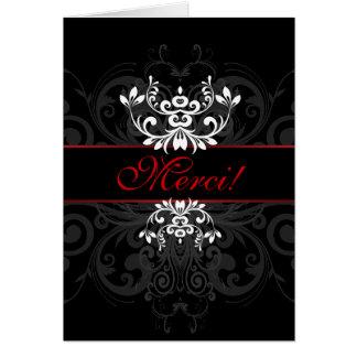 Elegância escura personalizada cartões