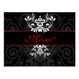 Elegância escura personalizada cartão postal