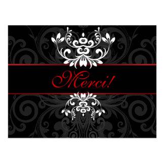 Elegância escura personalizada cartoes postais