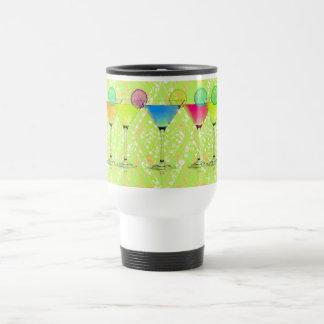 Elegant-Martini-Lime_Harlequin-Floral_Colorful Caneca Térmica