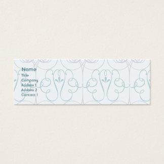 Elegante azul - magro cartão de visitas mini