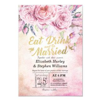 Elegante COMA a bebida & seja convites Wedding