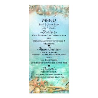 Elegante Enchanted sob o menu do casamento do mar 10.16 X 22.86cm Panfleto