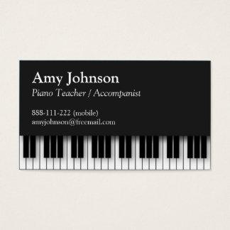 Elegante, moderno, profissional, professor de cartão de visitas