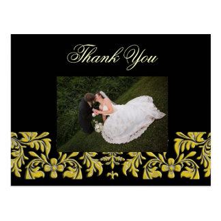 Elegante + Obrigado elegante você cartão da foto,