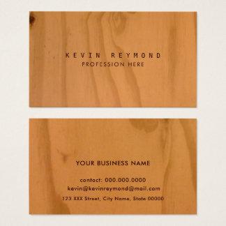 elegante profissional da textura de madeira do cartão de visitas