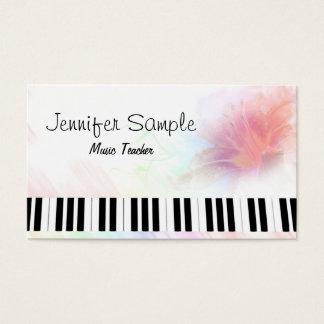 Elegante profissional do professor de música do cartão de visitas