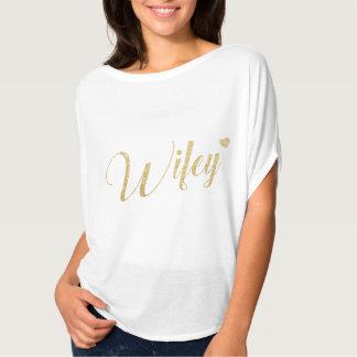 Elegante superior de Wifey do brilho do ouro & à Camiseta