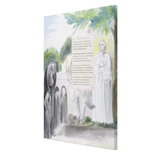 """""""Elegia escrita em uma Igreja-Jarda do país"""", desi Impressão De Canvas Esticadas"""