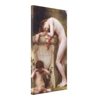 Elegia por William-Adolphe Bouguereau Impressão De Canvas Esticada