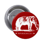 Eleição 2012 da campanha do GOP do vintage dos rep Boton