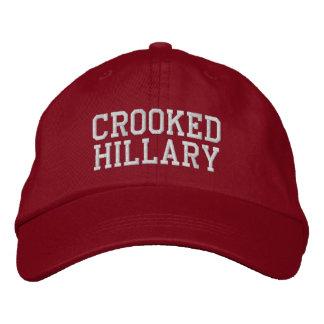 Eleições curvadas 2016 de Hillary Boné Bordado