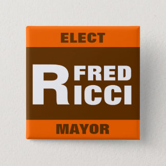 Eleja o crachá/botão do pino de Fred Ricci Bóton Quadrado 5.08cm