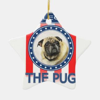 Eleja o Pug Ornamento De Cerâmica