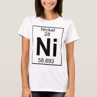 Elemento 028 - Ni - Níquel (cheio) Camiseta