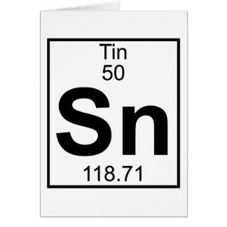Elemento 050 - Sn - lata (cheio) Cartão Comemorativo