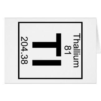 Elemento 081 - Tl - Tálio (cheio) Cartão