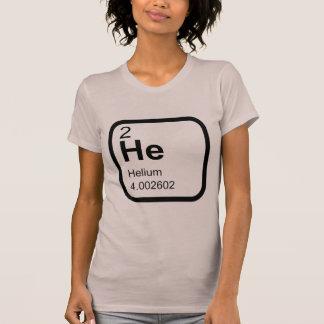 Elemento do hélio - mesa periódica t-shirts