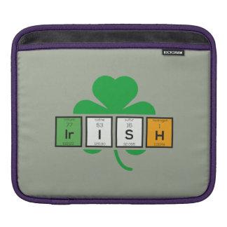 Elemento químico Zz37b do cloverleaf irlandês Bolsa Para iPad
