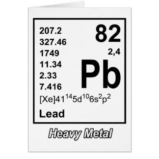 Elementos do cartão do metal pesado