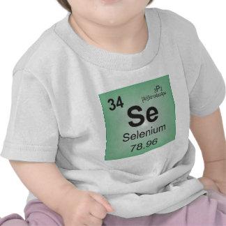 Elementos individuais do selênio da mesa periódica tshirts