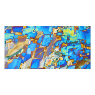 Elementos/ítrio sob o microscópio cartão com foto