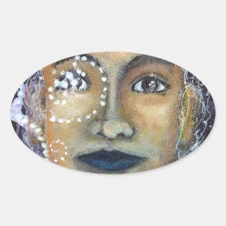Eleonora feminino divina adesivo oval