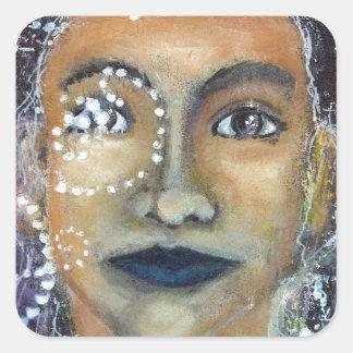 Eleonora feminino divina adesivo quadrado