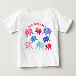 Elephat do bebê, t-shirt fino do jérsei do bebê, camiseta para bebê