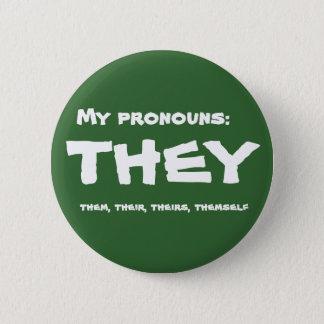 Eles ou pronome feito sob encomenda bóton redondo 5.08cm