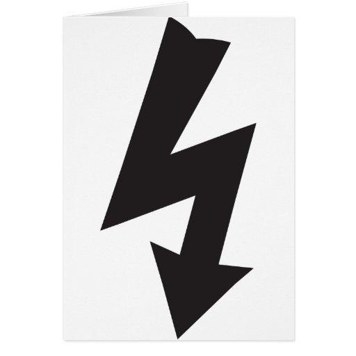 Eletricidade elétrica do trovão do símbolo cartoes