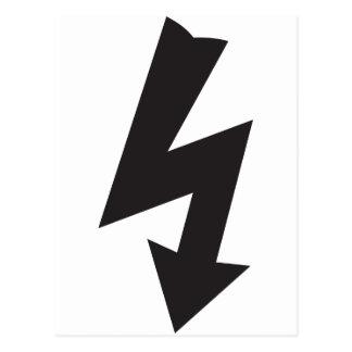 Eletricidade elétrica do trovão do símbolo cartão postal