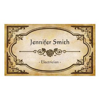 Eletricista - antiguidade elegante do vintage cartão de visita