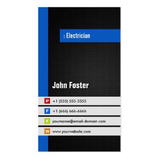 Eletricista - azul à moda moderno cartão de visita