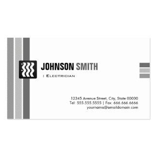 Eletricista - branco preto criativo cartão de visita