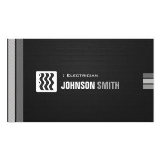 Eletricista - branco preto urbano cartão de visita