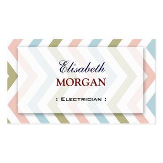 Eletricista - Chevron gracioso natural Cartão De Visita