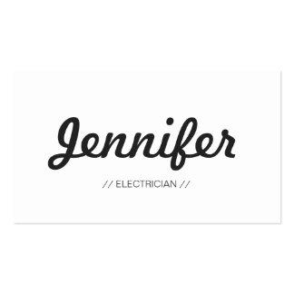 Eletricista - conciso simples à moda modelos cartoes de visitas