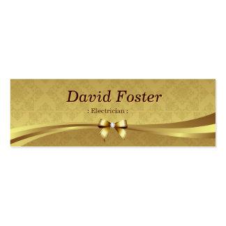 Eletricista - damasco brilhante do ouro modelo cartao de visita