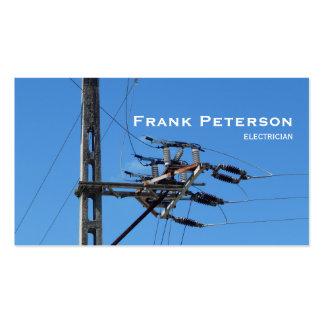 eletricista de alta tensão cartão de visita