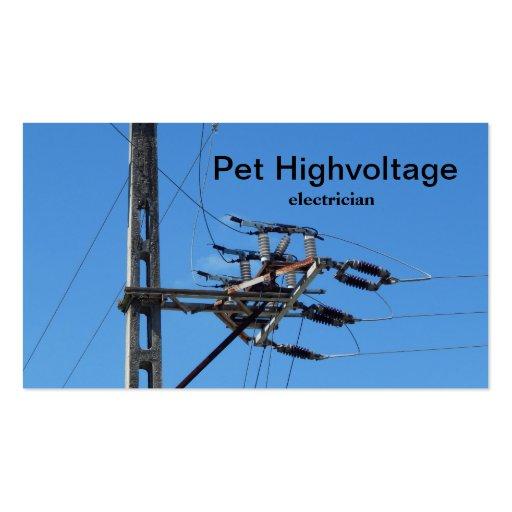 eletricista de alta tensão modelo cartao de visita