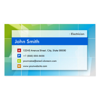 Eletricista - de múltiplos propósitos moderno cartão de visita